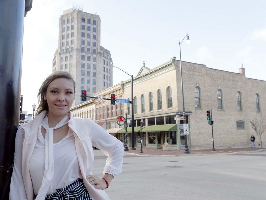 Zuly Gomez of Chicago has been scouting locations in Elgin to open a pot store. She and her business partners plan to apply for recreational marijuana license under the social equity program of cannabis legalization.