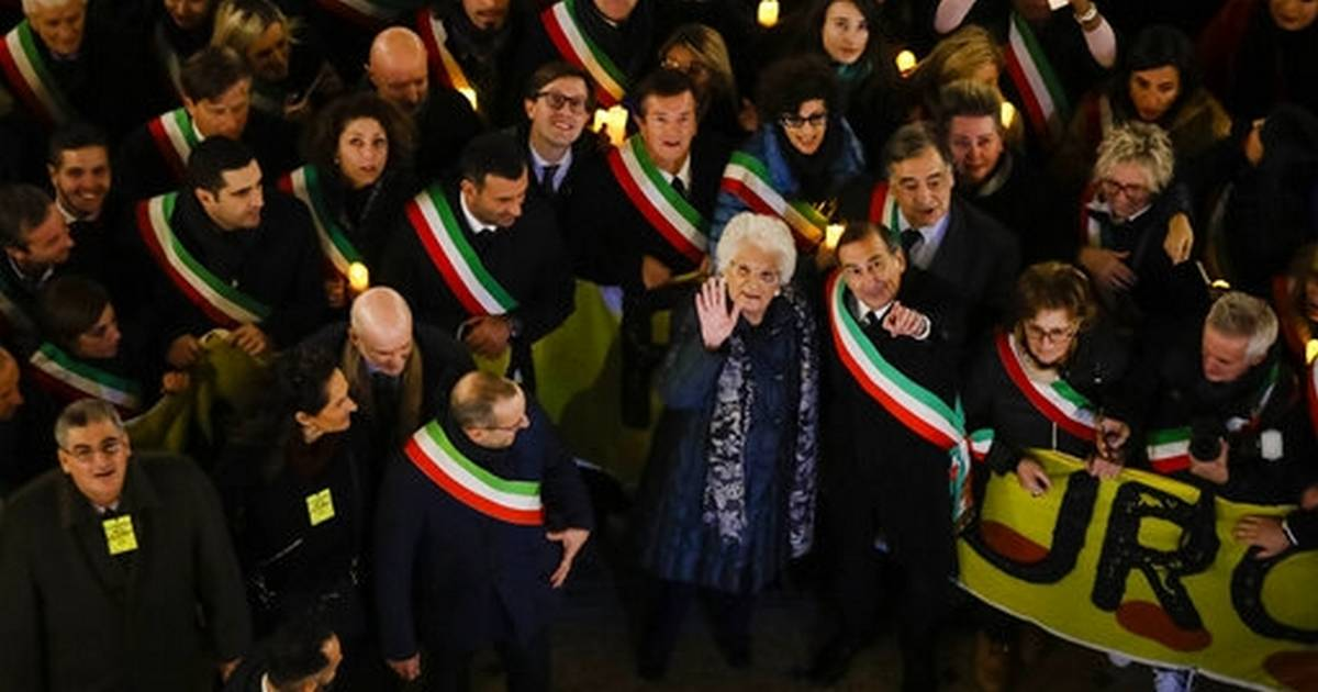 Thousands rally around Holocaust survivor in Milan