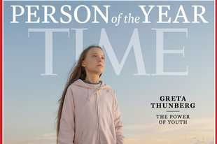 "This photo provided by Time magazine shows Greta Thunberg, who has been named Time's youngest ""person of the year"" on Wednesday, Dec. 11, 2019. The media franchise said Wednesday on its website that Thunberg is being honored for work that transcends backgrounds and borders."