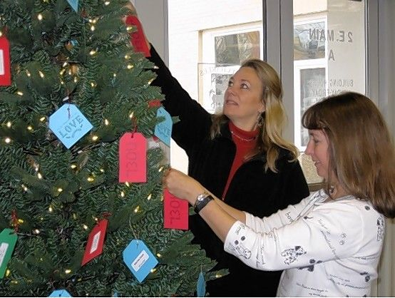 Pick up a gift tag from one of the St. Charles Giving Trees and help make the holidays brighter for a senior at the Elderday Center in Batavia.