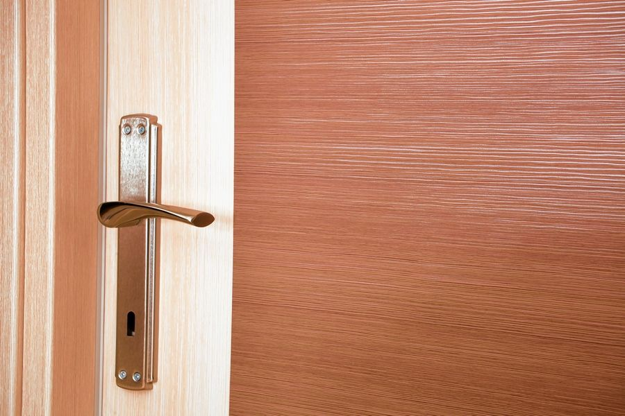 Doors with lever handles are easier to open than having to turn a knob, especially for those in wheel chairs or with arthritis.