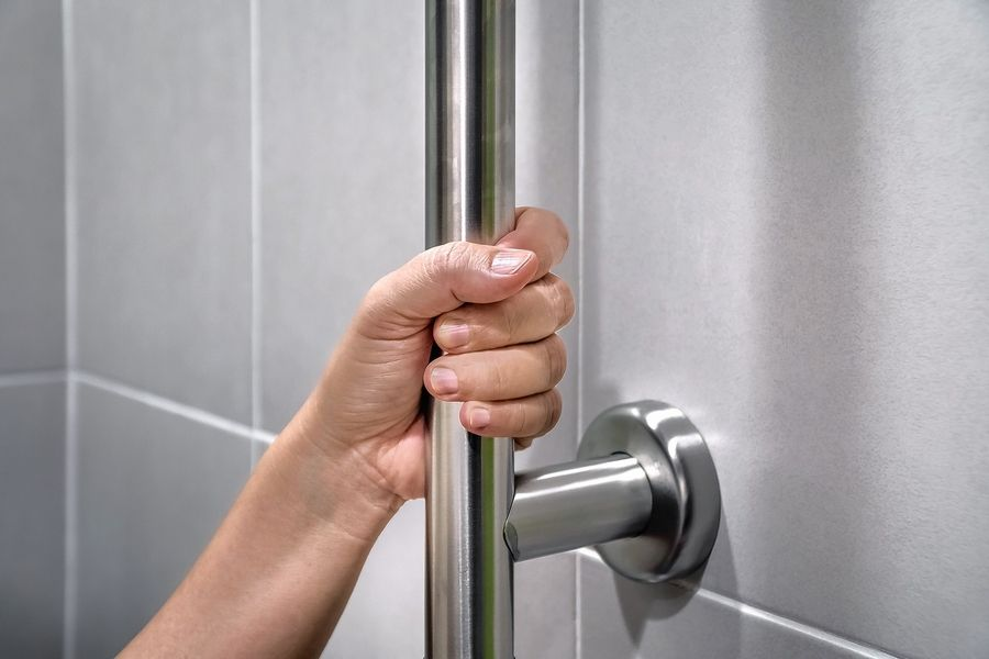 Handrails in the tub or shower area will help prevent falls.