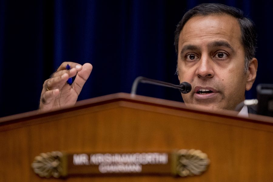Rep. Raja Krishnamoorthi, a Schaumburg Democrat, questions Anne Schuchat, principal deputy secretary for the Centers for Disease Control and Prevention, as she appears before a subcommittee hearing on lung disease and e-cigarettes in September on Capitol Hill.