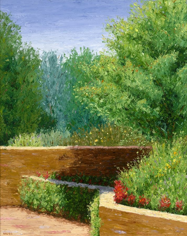 "Elmhurst Artists' Guild member Fred Moss impressionistic work ""Hidden Garden"" is on display at the Elmhurst Artists' Guild winter members show."