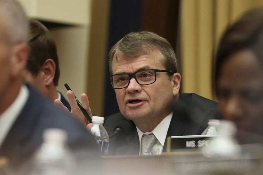 U.S. Rep. Mike Quigley questions former special counsel Robert Mueller, who testifies before the House Permanent Select Committee on Intelligence about his report on Russian election interference in July 2019.