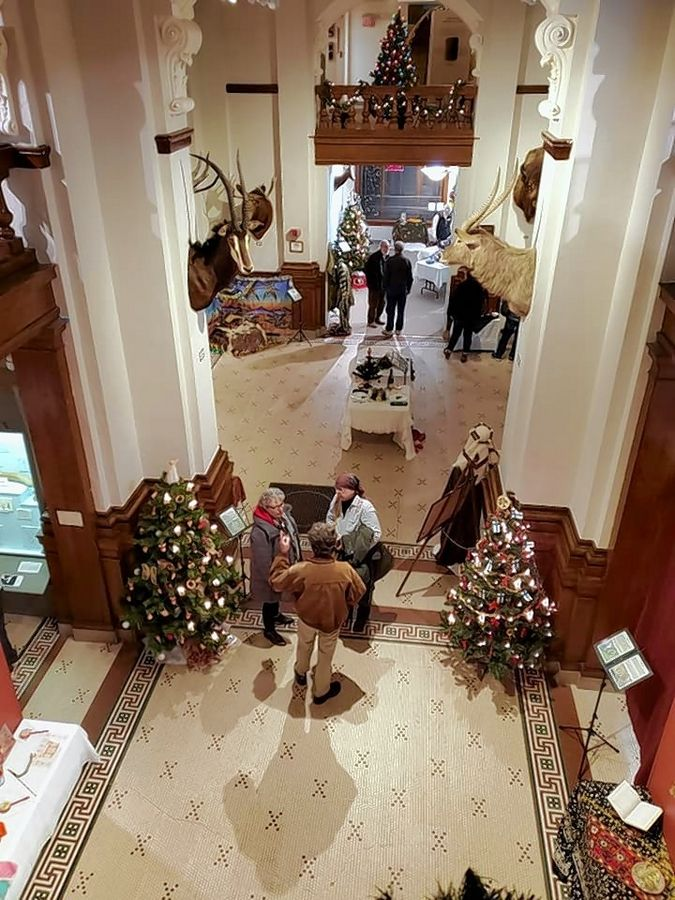 "The halls of the historic Elgin Public Museum are filled with Christmas trees, costume displays, and other holiday articles from all around the world as part of the ""Touching on Traditions"" exhibit."