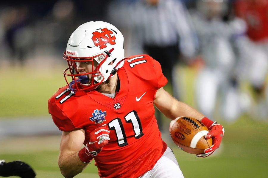 Andrew Kamienski and the North Central College Cardinals played their way to the NCAA Division III national championship Friday night over Wisconsin-Whitewater in Shenandoah, Texas.