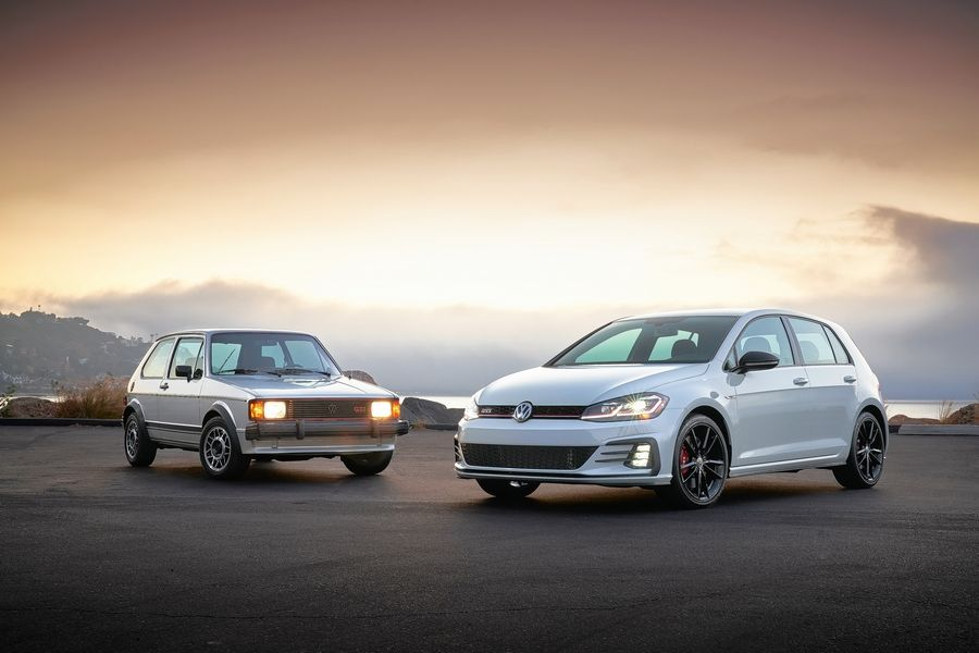 1984 Mk1 Rabbit GTI and 2019 GTI Rabbit Edition