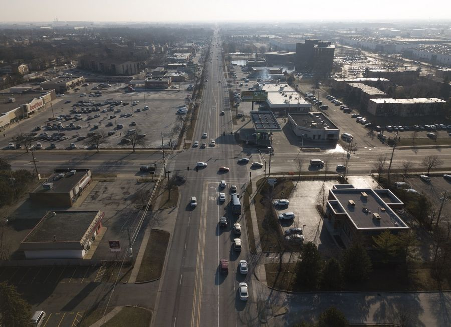 An influx of transportation funding in 2020 will help repair state and local roads, like Route 83, shown looking south near Dempster Street in Des Plaines.