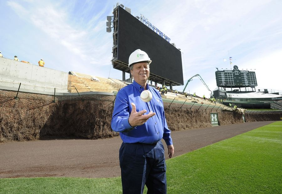 Dave Pepper helped guide the renovations at Wrigley Field in 2015, along with dozens of other landmark construction projects across the region, as chairman of his family's Pepper Construction Group. The Barrington resident died Saturday at 59.