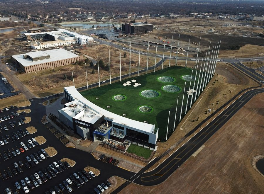 Topgolf recently opened a golf, dining and entertainment center on the site of the former Motorola Solutions campus in Schaumburg. It's the first active business of the 225-acre Veridian development there.