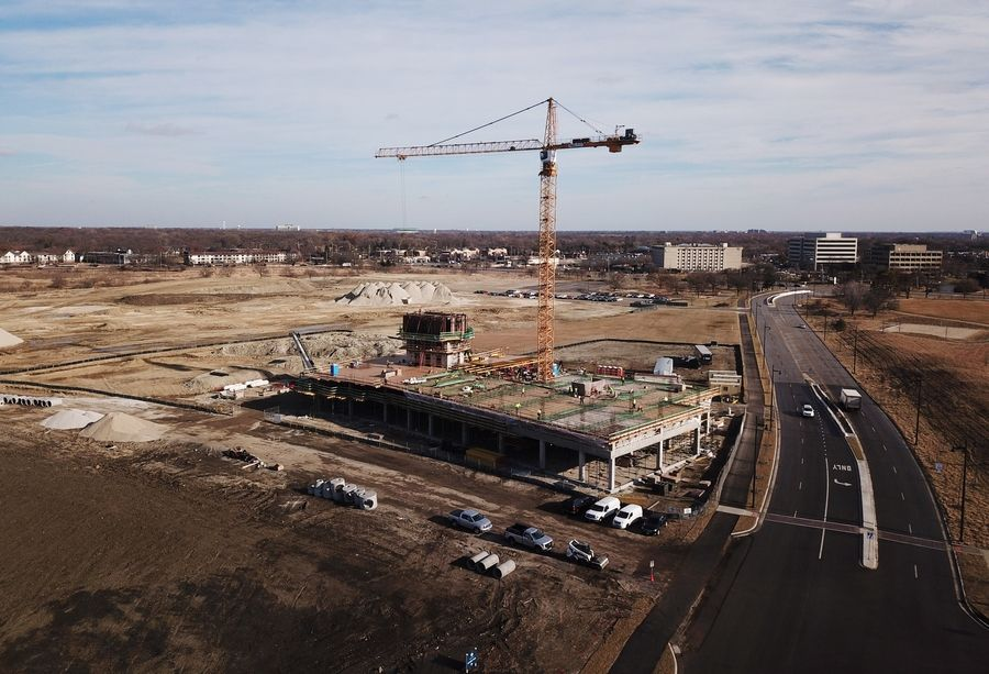 The new global headquarters of the Itasca-based Boler Co. is among the construction projects underway on the redeveloping former Motorola Solutions campus in Schaumburg.