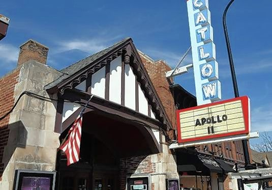Barrington's Catlow Theater has stopped showing feature films because of financial problems, the owner announced Saturday.