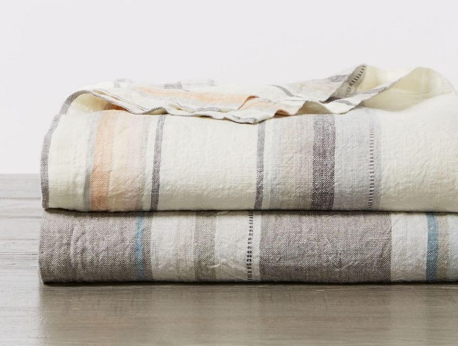 If you prefer a lightweight blanket, consider Coyuchi's collections. Made of washed organic Turkish cotton, this Mojave blanket is perfect for hot sleepers.