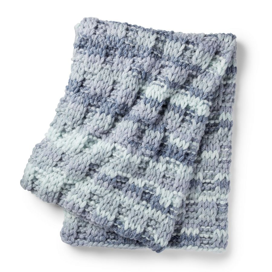 The Alize EZ Wool Box Stitch Blanket. Want to make your own blanket, but don't know how to knit or crochet? The Bernat Alize EZ Wool is a pre-looped yarn that lets you create your blanket without needles or hooks. There are loads of colors, in soft, chunky machine-washable chenille wool blends.