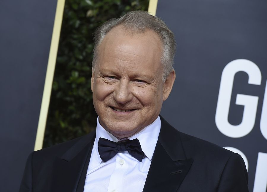 Stellan Skarsgard arrives at the 77th annual Golden Globe Awards at the Beverly Hilton Hotel on Sunday, Jan. 5, 2020, in Beverly Hills, Calif.