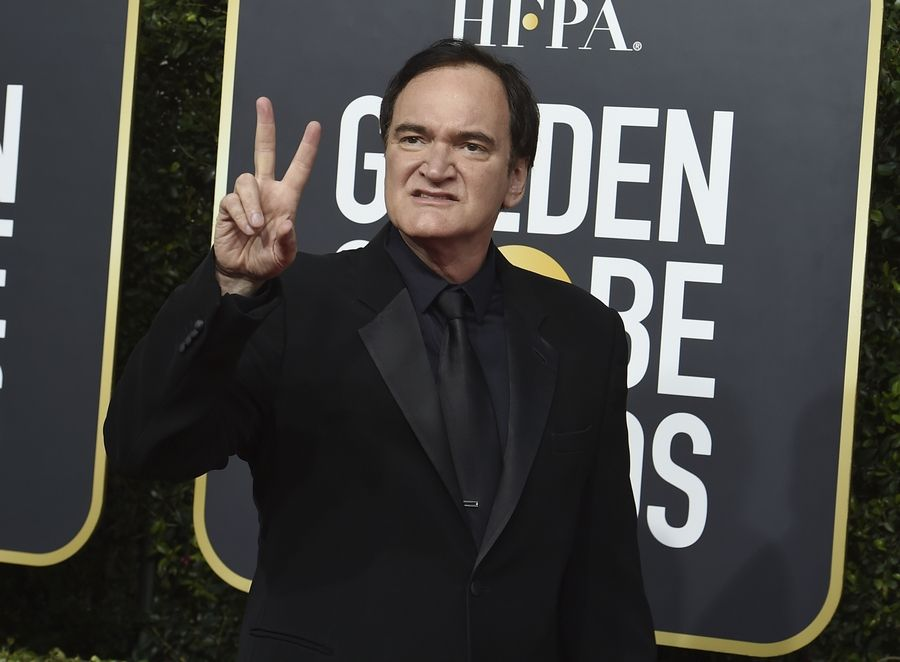 Quentin Tarantino arrives at the 77th annual Golden Globe Awards at the Beverly Hilton Hotel on Sunday, Jan. 5, 2020, in Beverly Hills, Calif.
