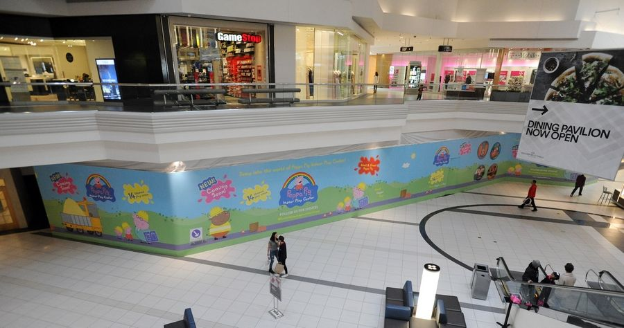 The now shuttered Rainforest Cafe will be turned into the new Peppa Pig Indoor Play Center at Woodfield Mall in Schaumburg.