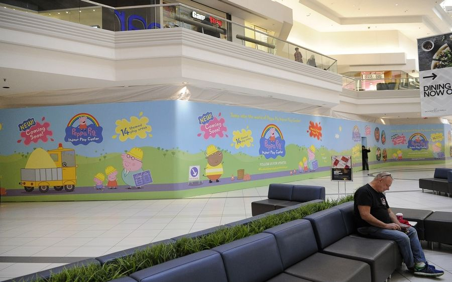 The former Rainforest Cafe site will soon be home to the new Peppa Pig Indoor Play Center at Woodfield Mall in Schaumburg.