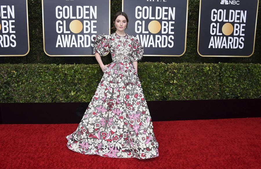 Kaitlyn Dever arrives at the Golden Globe Awards Sunday at the Beverly Hilton Hotel.
