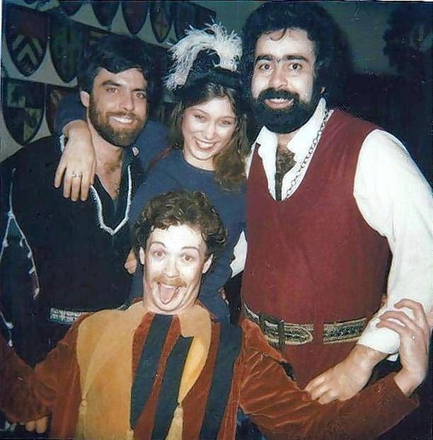 In his first professional acting gig in 1981, Dave Gordon, kneeling in front, landed the role as jester in The King's Manor dinner theater in Chicago. In 2007, the Bartlett actor started an 11-year career as king at Medieval Times in Schaumburg.