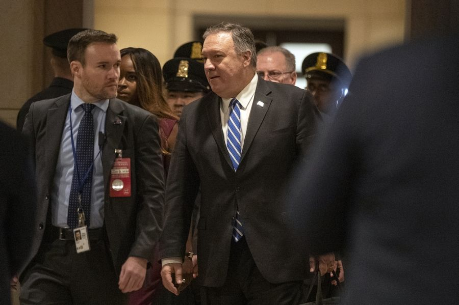 Secretary of State Mike Pompeo, arrives Wednesday to conduct briefings for members of Congress on last week's targeted killing of Iran's senior military commander Gen. Qassem Soleimani.