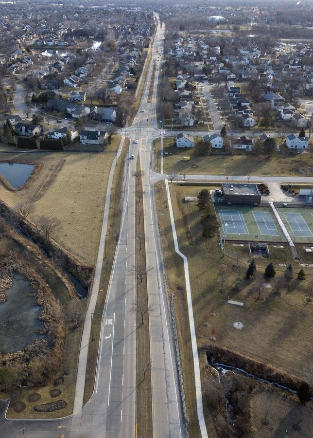 "Lake County plans to spend more than $20 million over the next two years widening Buffalo Grove Road between Deerfield Parkway and Route 22. ""Together with the Weiland Road expansion that's already underway, going north and south in Buffalo Grove is going to get much easier,"" county board member Adam Didech of Buffalo Grove said."