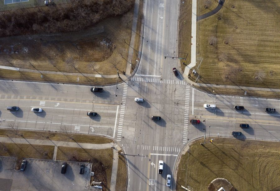 The intersection of Buffalo Grove and Aptakisic roads in Buffalo Grove will be improved as part of a plan to widen Buffalo Grove Road. The Lake County Board is expected to commit up to $26 million to the project.