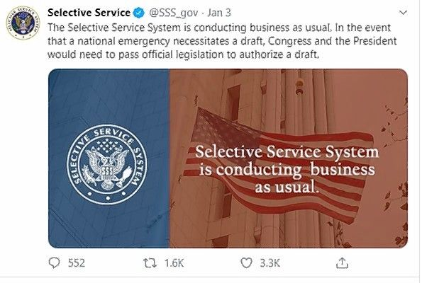 A hoax about the military draft had the Selective Service taking to Twitter to refute the claim.
