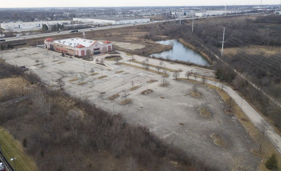"The long-vacant former Odyssey Fun World is part of a site that's being planned as a ""live, work, play, stay"" destination at the northwest corner of Naperville."