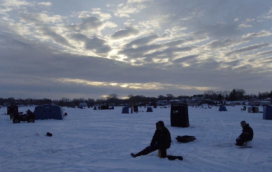At the end of January 2009, there was plenty of ice for the Walk on Water ice fishing derby in Wauconda. That hasn't been the case so far this January.