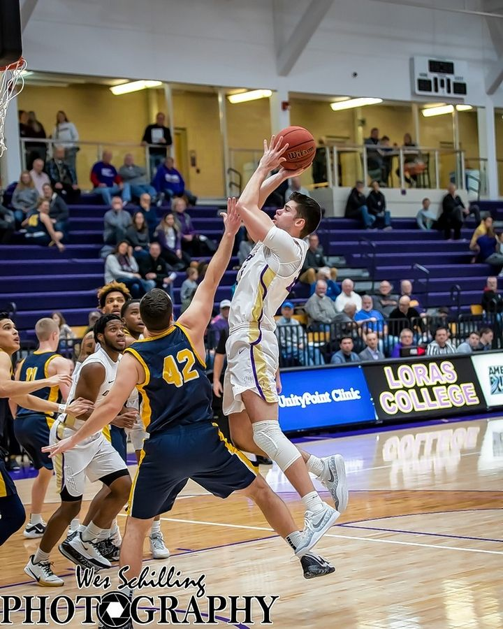 Geneva graduate Cole Navigato is averaging 9.8 points a game as a junior forward at Loras College.