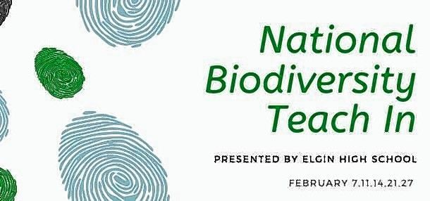 Elgin High School's 2020 National Biodiversity Teach-In logo