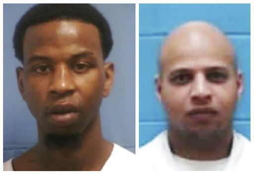"This combination photo of undated file photos released by the Mississippi Department of Corrections shows Roosevelt Holliman, left, who was beaten and stabbed at the Mississippi State Penitentiary at Parchman on Jan. 2, 2020, and Denorris Howell, who was found dead in his cell on Jan. 3. More than two dozen Mississippi inmates sued the state Tuesday, Jan. 14, saying understaffed prisons are ""plagued by violence"" and inmates are forced to live in decrepit and dangerous conditions. The federal lawsuit follows an outbreak of violence that killed five inmates and left an undisclosed number of others injured between Dec. 29 and Jan. 3. (Mississippi Department of Corrections via AP)"