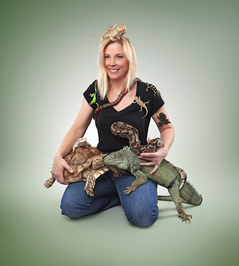 Meet the FrogLady and her reptiles at the Science & Art Fair on Jan. 25.