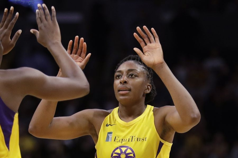 "The WNBA and its union announced a tentative eight-year labor deal Tuesday, Jan. 14, 2020,  that will allow top players to earn more than $500,000 while the average annual compensation for players will surpass six figures for the first time. ""It was collaborative effort,'"" WNBA players' union president Nneka Ogwumike said."