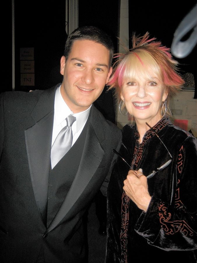 Stevenson High School grad Adam Cohen poses with Shelley Fabares, his favorite actress and a former SAG Awards committee member. Cohen, who grew up in Wheeling and Buffalo Grove, is the show's production manager.