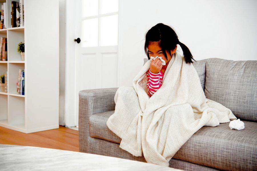If your child's cold symptoms don't improve in three to six days, and she develops a fever, she may have a sinus or ear infection.