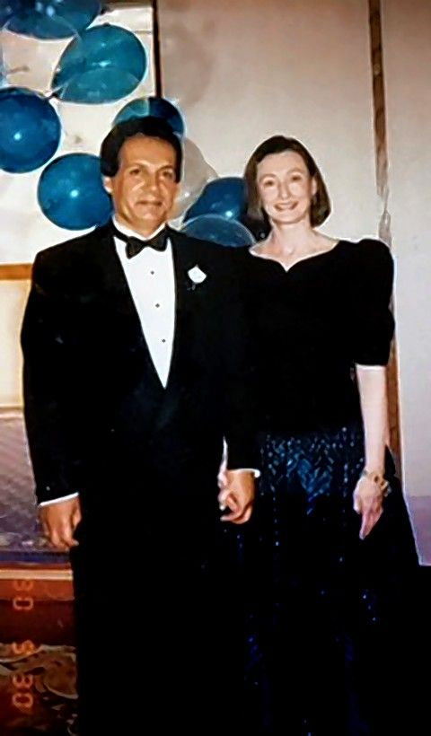 Susan Anderson-Khleif and her late husband, Baheej, celebrating a special time together.