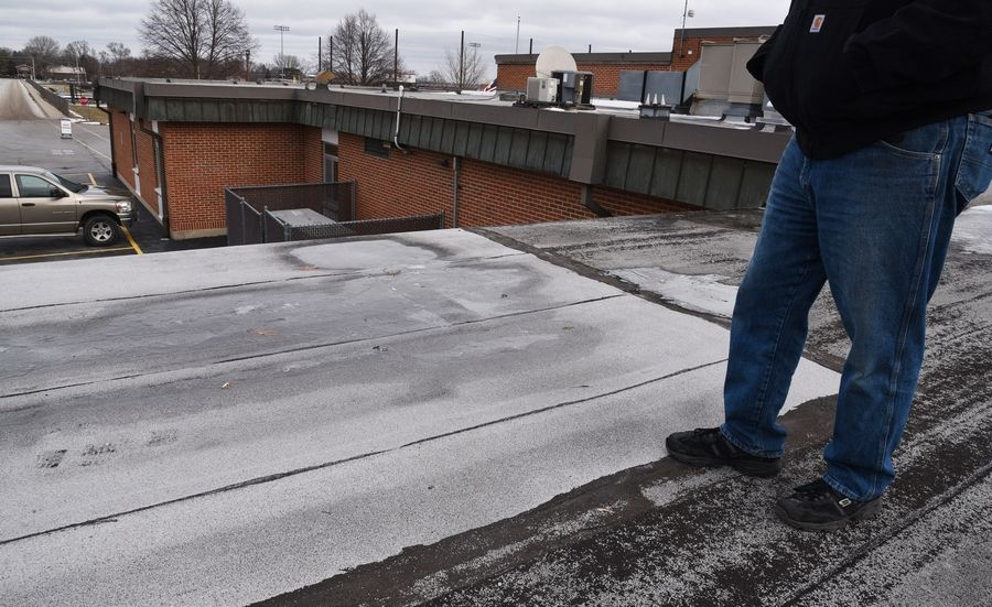 Roof repairs at Stanton Middle School in Fox Lake are among the projects Fox Lake Elementary District 114 hopes to fund if voters approve a referendum on the March 17 ballot.