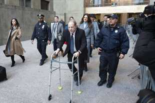 Harvey Weinstein leaves court during his rape trial, Tuesday, Jan. 21, 2020, in New York. (AP Photo/Richard Drew)