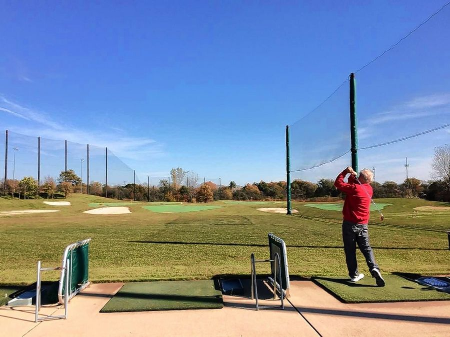 The driving range portion of the Libertyville Sports Complex may be redeveloped for an industrial use.