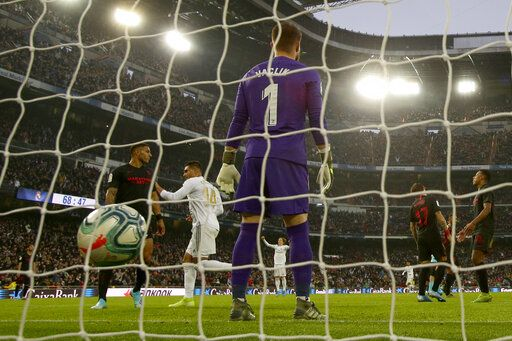 Madrid to face 2nd-division club Zaragoza in last 16 of Copa