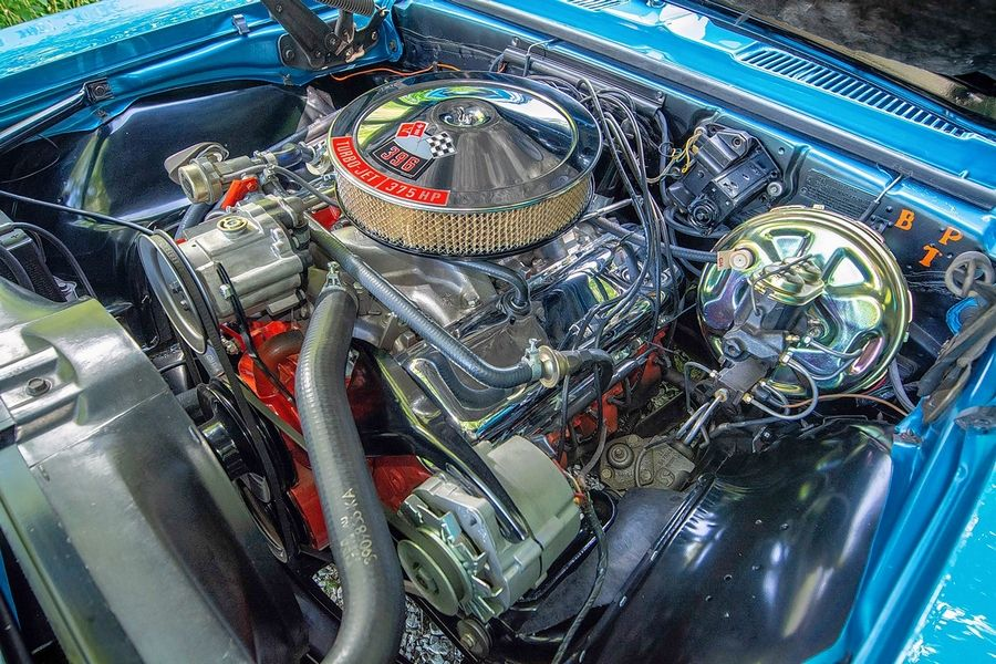 The 1968 Chevy SS is equipped with a rare L78 big-block engine.