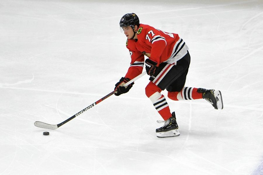 Blackhawks forward Kirby Dach has taken his game to a new level lately, and is starting to show glimpses of the player he may become down the road.