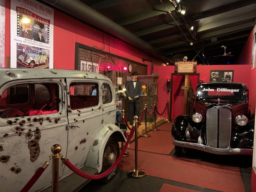 The Volo Auto Museum's Crime and Punishment Hall, featuring gangster-era memorabilia and more, will be open free to curious Valentine's Day weekend visitors. Entry to this exhibit normally incurs an additional charge. Regular museum admission applies.