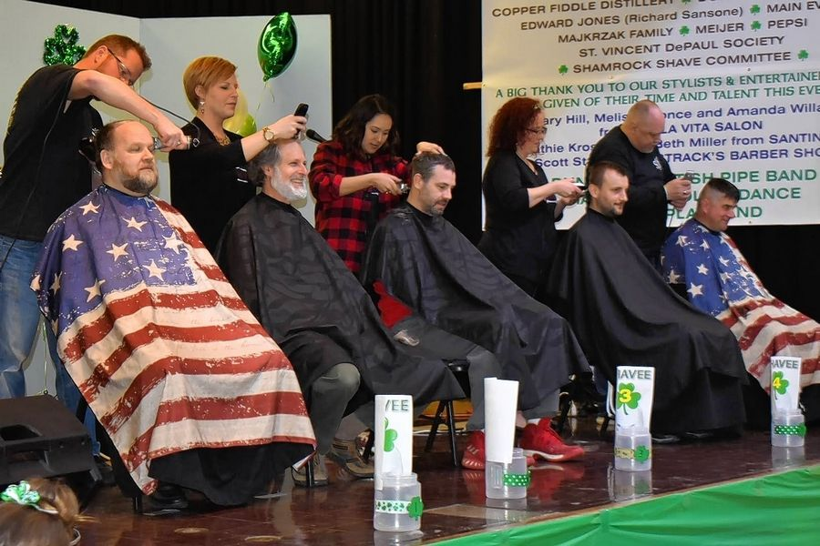 Sign up a charity team of six for the 12th annual Shamrock Shave on Saturday, March 14, at St. Margaret Mary Parish in Algonquin.