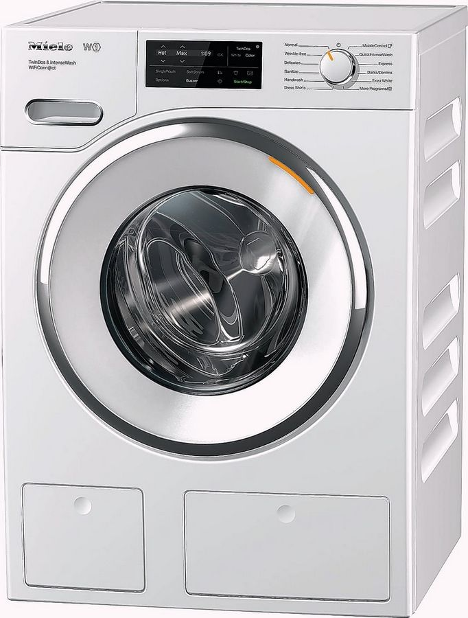 Miele's Front-Loading Washing Machine with QuickIntenseWash.
