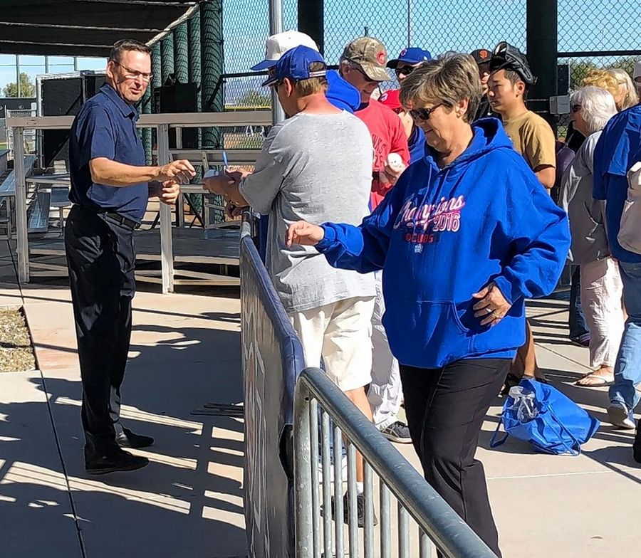 Mark Grace was a star player for the Chicago Cubs from 1988-2000. The three-time all-star visited Sloan Park Friday, and Grace is also going to appear as an analyst on the Cubs' new Marquee Sports Network.