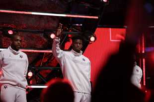 Jimmy Butler of the Miami Heat is introduced before the NBA All-Star basketball game Sunday, Feb. 16, 2020, in Chicago. (AP Photo/Nam Huh)
